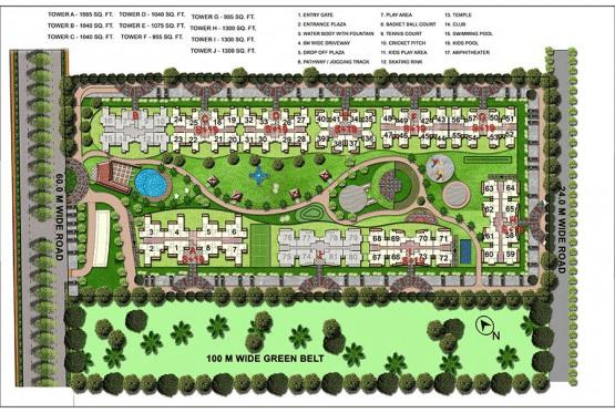 gaur atulyam site plan , gaur atulyam