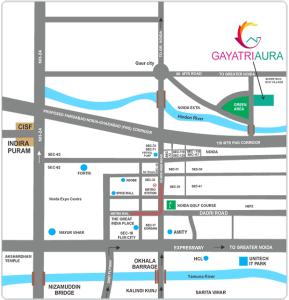gayatri aura location map , gayatri aura