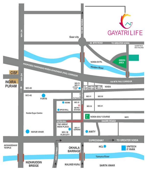 gayatri life location map , gayatri life