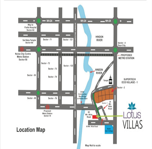 lotus villas location map , lotus villas