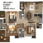 ratan pearls floor plan 3bhk 3toilet 1370 sq.ft
