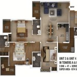 ratan pearls floor plan 3bhk 4toilet 1874 sq.ft