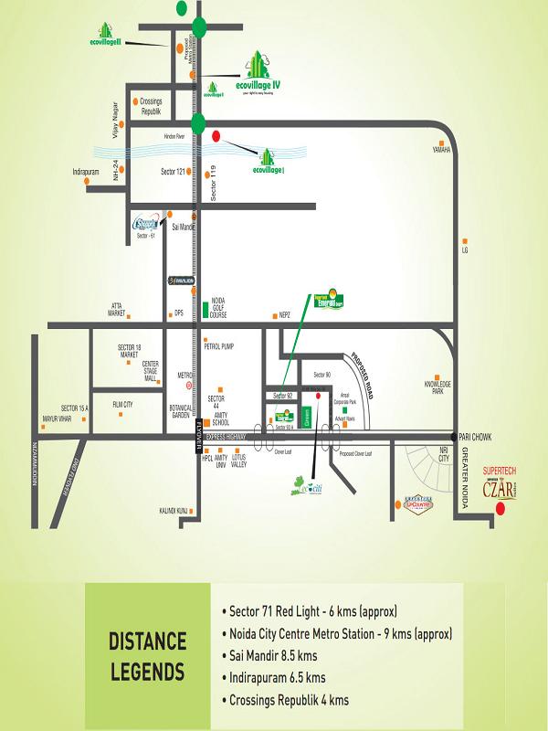 supertech echo village4 location map , supertech echo village4