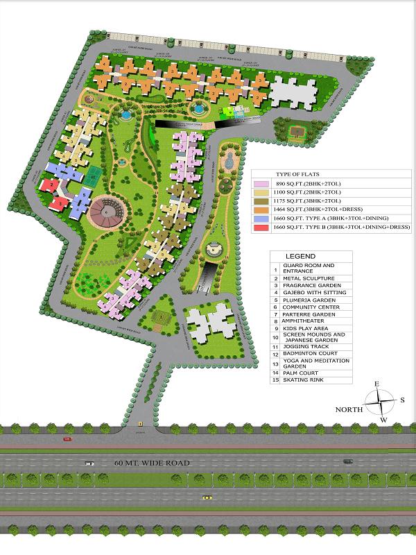 supertech echo village4 site plan , supertech echo village4