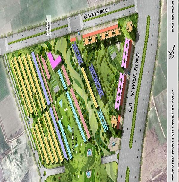 supertech sports village site plan , supertech sports village