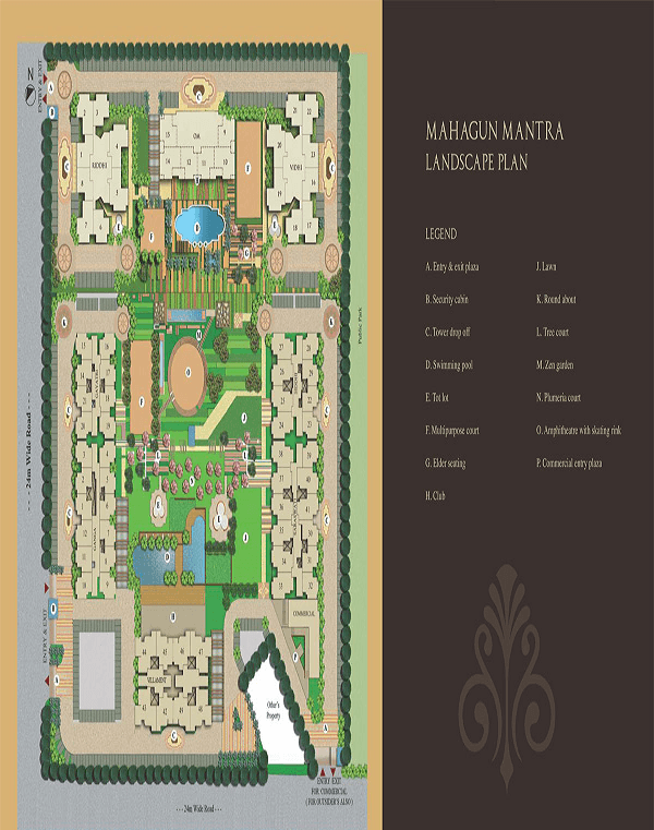 mahagun mantra villaments site plan , mahagun mantra villaments