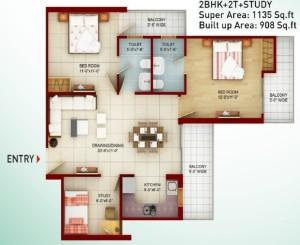saviour greenarch floor plan 1135-sqft