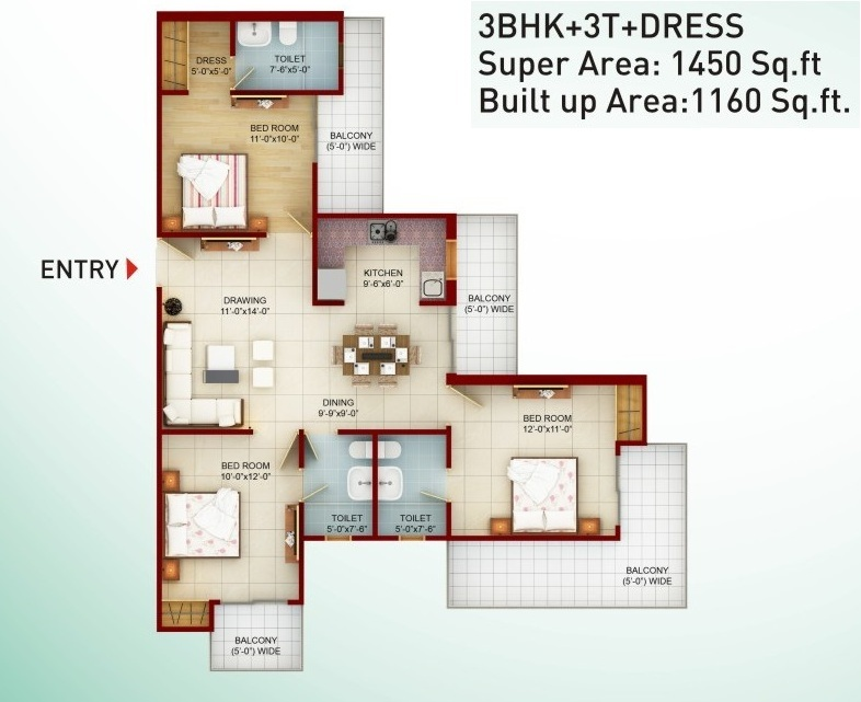 saviour greenarch floor plan 1560-sqft