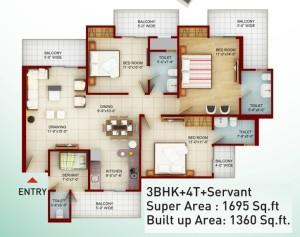 saviour greenarch floor plan 1695-sqft