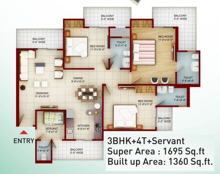 saviour greenarch floor plan 1695-sqft