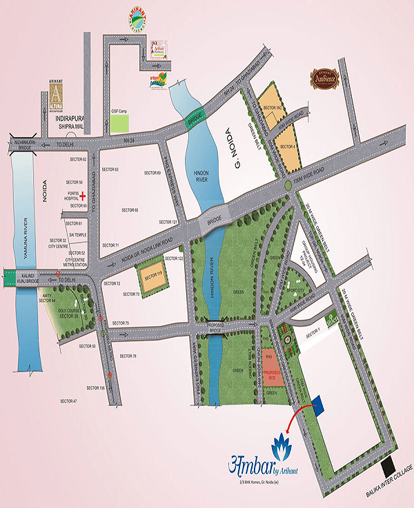 arihant ambar location map , arihant ambar