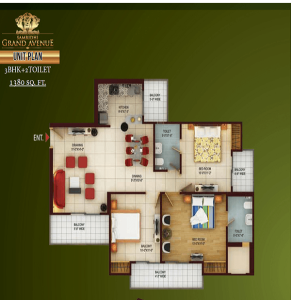 samridhi grand avenue floor plan ,samridhi grand avenue