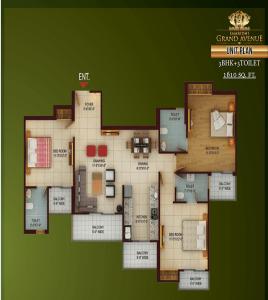 samridhi grand avenue floor plan , samridhi grand avenue