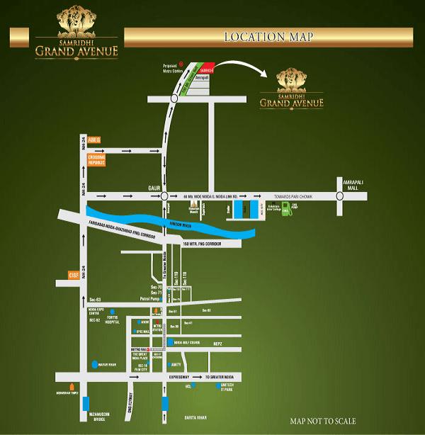 samridhi grand avenue location map , samridhi grand avenue