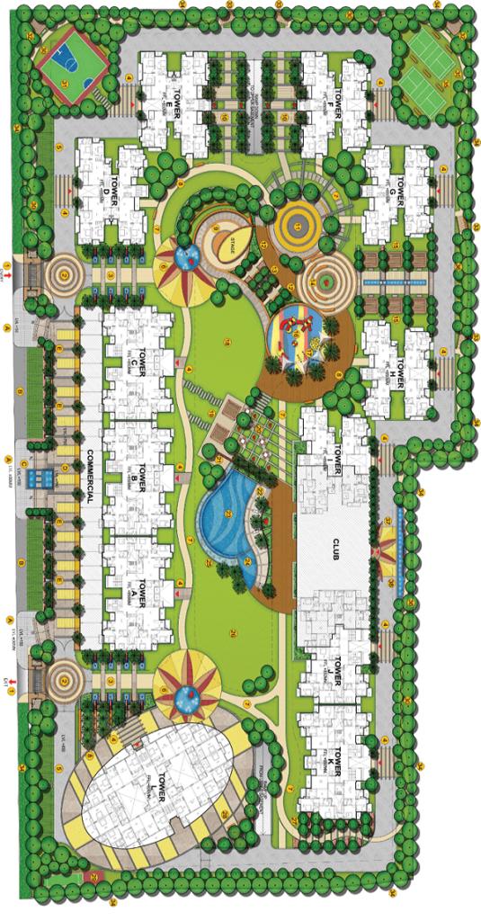 samridhi grand avenue site plan , samridhi grand avenue