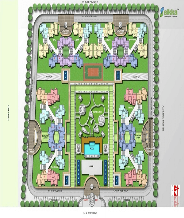 sikka kaamya greens site plan , sikka kaamya greens
