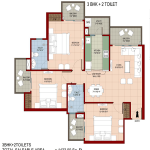 organic-golf-homes-floor-plan-3bhk-2toilet-1422-sq-ft