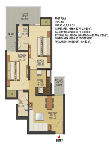 ska-greenarch-floor-plan-2bhk-2toilet-1000-sq-ft