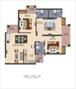 cosmos-shivalik-homes2-floor-plan-3bhk-3toilet-1500-sq-ft