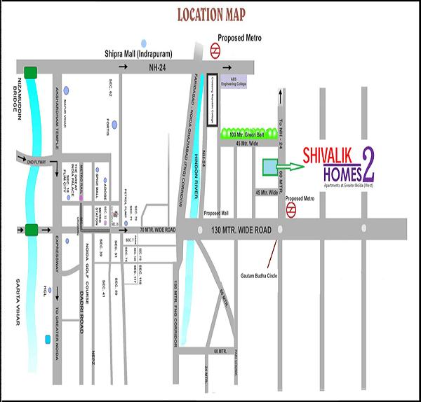cosmos-shivalik-homes2-location-map