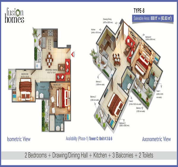 fusion-home-floor-plan-2bhk-2toilet-888-sq-ft