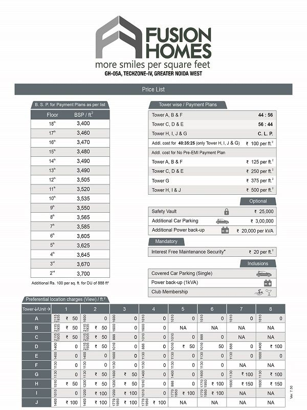 fusion-home-price-list