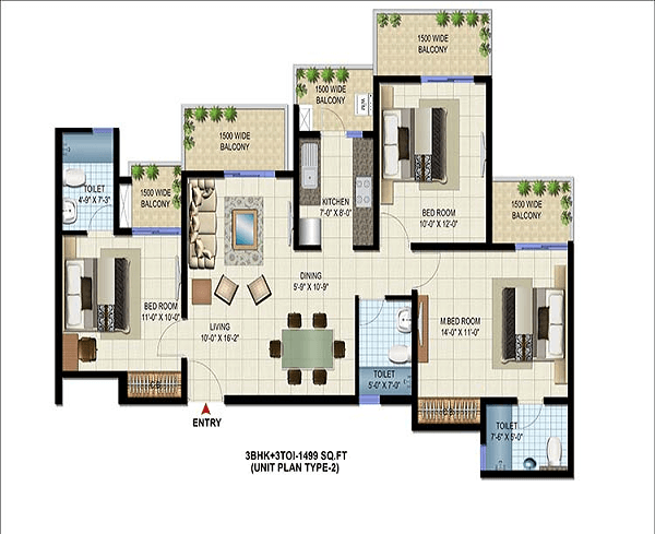 patel-neotown-floor-plan-3bhk-3toilet-1499-sq-ft