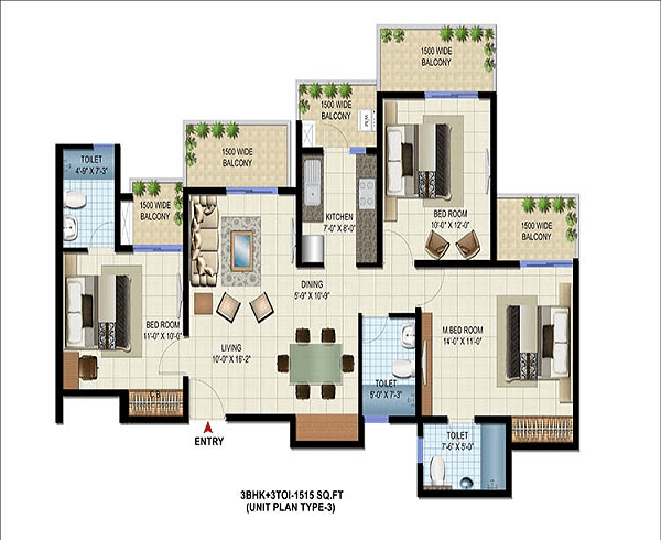 patel-neotown-floor-plan-3bhk-3toilet-1515-sq-ft