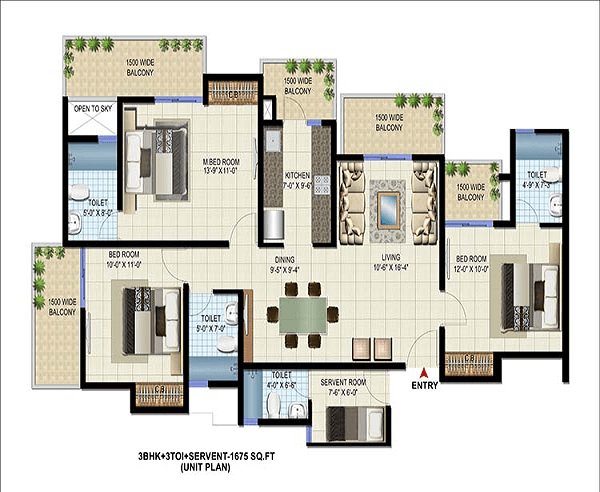 patel-neotown-floor-plan-3bhk-3toilet-1675-sq-ft