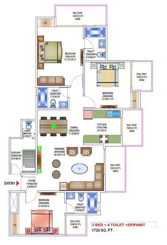 victory-one-amara-floor-plan-3bhk-4toilet-1720-sq-ft
