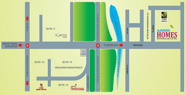 ajnara-homes-location-map