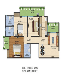 ajnara-le-garden-floor-plan-3bhk-3toilet-1500-sq-ft