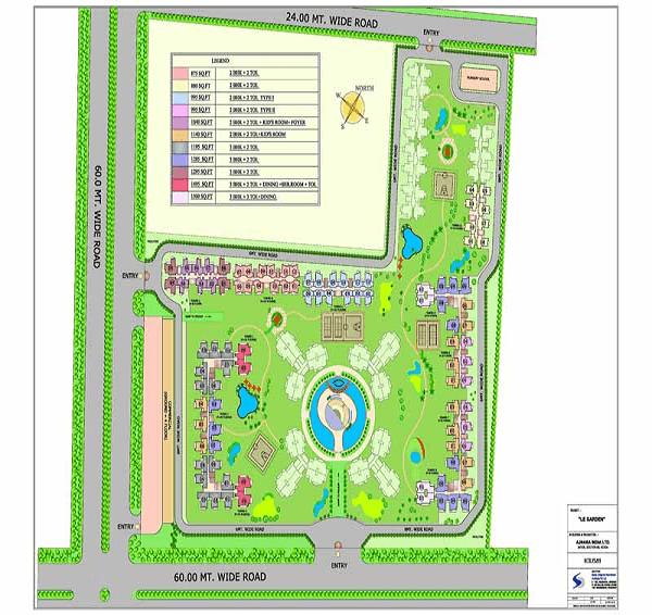 ajnara-le-garden-site-plan