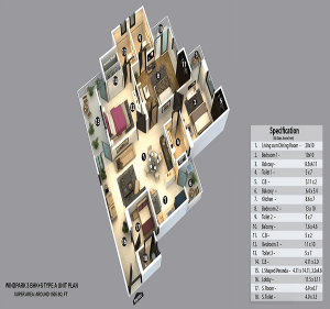 kvd-wind-park-floor-plan-3bhk-3toilet-1505-sq-ft