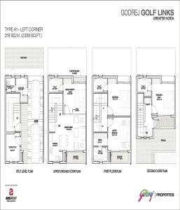 godrej golf links left corner floor plan 2359 sq.ft