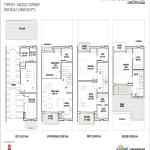 godrej golf links middle corner floor plan 2835 sq.ft