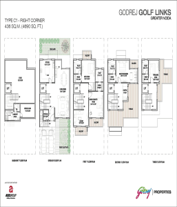 godrej golf links right corner floor plan 4690 sq.ft