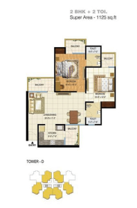 pigeon spring meadows floor plan 2bhk 2toilet 1125 sq.ft