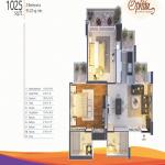 mangalya ophira floor plan 2bhk 2toilet 1025 sq.ft