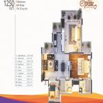 mangalya ophira floor plan 2bhk 2toilet 1250 sq.ft