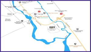 Saha Eminence Location Map